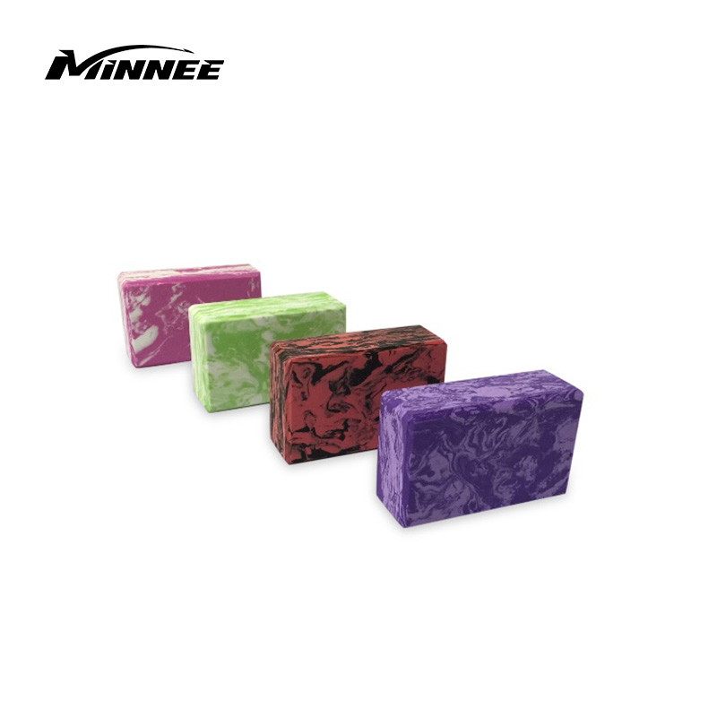"MINNEE Yoga Blocks (Set of 2) 9""x6""x4"" - EVA Foam Brick, Featherweight And Comfy - Provides Stability And Balance - Ideal for Exercise, Pilates, Workout, Fitness & Gym"
