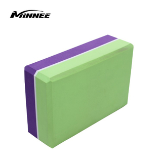 MINNEE Yoga Block Supportive Latex-Free EVA Foam Soft Non-Slip Surface for Yoga, Pilates, Meditation