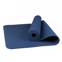 TPE Single Color Yoga Mat 183*61* 6cm Tpe Yoga Mat Exporter