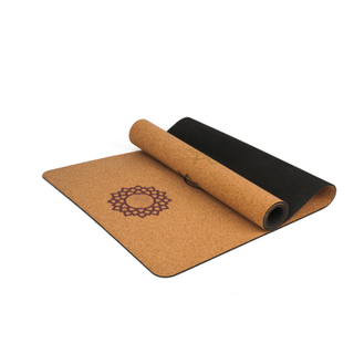 Custom Print 100% Natural Tree Rubber Eco Friendly Cork Yoga Mat